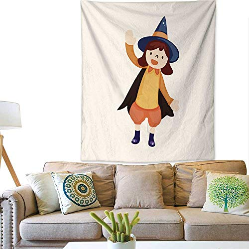 BlountDecor Colorful Tapestry Halloween Party Costume Theme Elements 51W x 60L INCH -