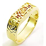 BSI Elegant New Gold Metal Replacement Jewelry Bracelet With Unique Flowers Design Gold Metal Housing For Fitbit Flex Smart Band
