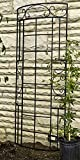Panacea Romantic Curved Garden Trellis, Black, 72''H, Pack of 5