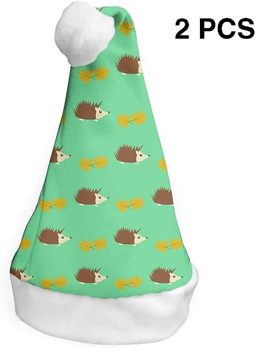 35f6bc0f61c9c Amazon.com  Horizon-t A Hamster Christmas Santa Hat Holiday Christmas Party  Hat Xmas Decoration for Adults Children 2 PCS  Clothing