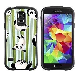 Suave TPU GEL Carcasa Funda Silicona Blando Estuche Caso de protección (para) Samsung Galaxy S5 / CECELL Phone case / / Happy Cute Bamboo Japan Kids /