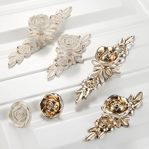 Choubao European Style Kitchen Furniture Cabinet Hardware Classic Rose Flower Shape Drawer Handle Pull Knobs - 10pcs by Choubao (Image #6)
