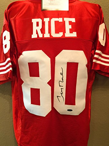 Jerry Rice San Fransico 49ers Signed Autograph Custom Jersey Tristar Authentic - Jerry Rice Jersey Signed