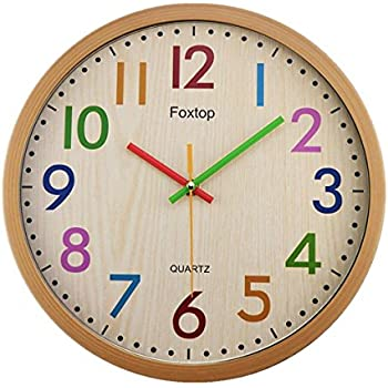 Clock colorful. Foxtop silent non ticking