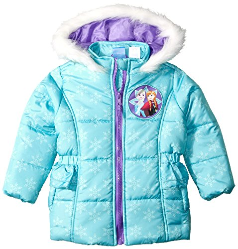 Disney Toddler Girl Frozen Puffer Jacket 2t, Aqua
