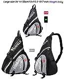 lovelifejoy Large Sling Bag Crossbody Backpack Chest Daypack Outdoor Hiking Travel Bag Book Bag for Men & Women (Grey, Large) Review