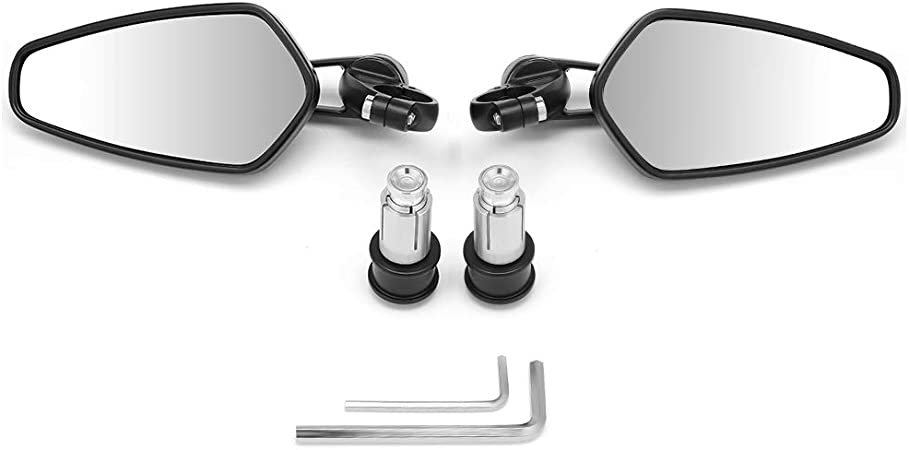 Moto Specchietto Retrovisore Universali Omologati Specchi Specchio Specchietti Moto Pieghevoli Alluminio M10 per Street Bike Sport Bike Scooter Cruiser
