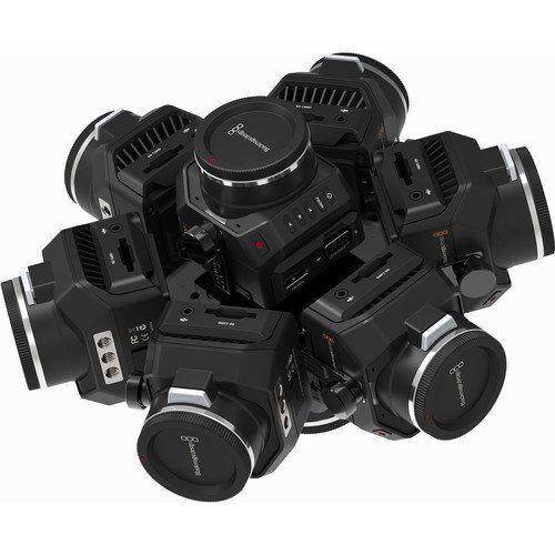 Image of 360Rize 360HELIOS-678 360 Video Rig for 6, 7, or 8 Blackmagic Design Micro Cinema Camera Sports & Action Video Cameras
