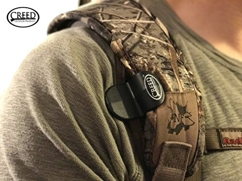 Sling Saddle Shoulder Clip & Belt Combo, By Creed Outdoor Products, Carry Your Rifle HANDS FREE, Easily Hooks to your Rifle Sling and holds your gun securely to your body. (Black)