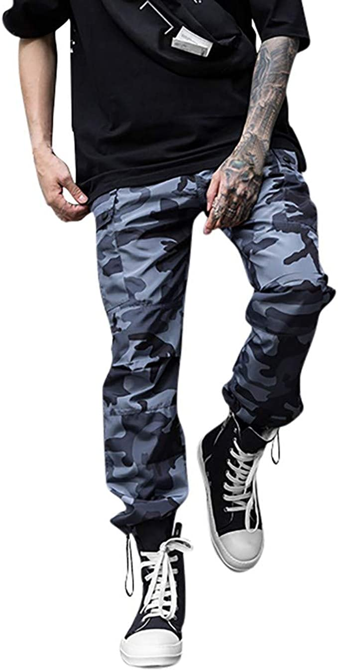 CLOOM Pantalones De Hombre Camo Cargo Pantalones De Camuflaje ...