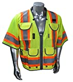 Radians SV55-3Z High Visibility Type R Class 3 Green, Zise X-Large