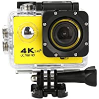 Sport Camera, TONSEE Waterproof 4K F60R Wifi HD 1080P Ultra Sports Action Camera DVR Cam Camcorder (Yellow)