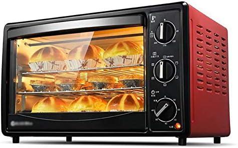 STBD-ピザテーブルトースターオーブン、360°回転フォークを備えた家庭用多機能ミニオーブン、全温度機能、熱傷防止ハンドル、2000Wの調理力