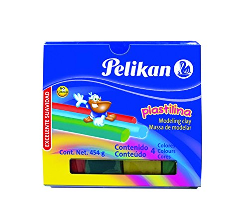 Pelikan Non-Hardening Modeling Clay, 4 Colors/Pack, Assorted Colors - Modeling Color