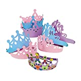 Foam Princess Tiara Assortment (Set of 12) Kids Party Favors and Activities