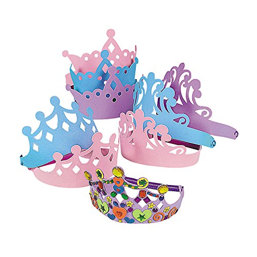 (Fun Express - Foam Tiara Assortment - Apparel Accessories - Hats - Tiaras & Crowns - 12 Pieces)