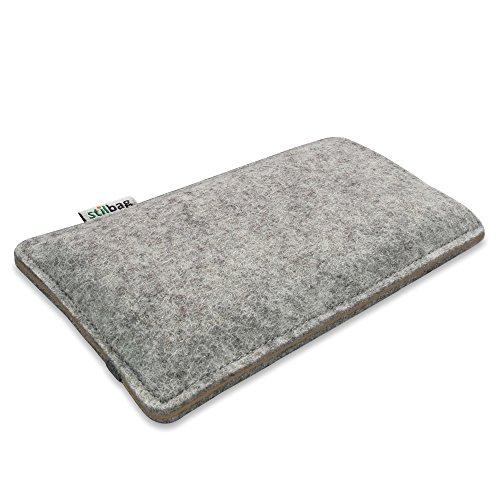 Stilbag Filztasche 'FINN' für Apple iPhone 6s plus- Farbe: hellgrau/braun