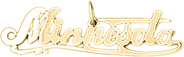 Jewels Obsession Silver Minnesota Pendant 14K Yellow Gold-plated 925 Silver Minnesota Pendant