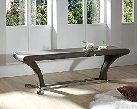 Captivating Modrest Arvin Modern Grey Dining Bench Grey/Rectangular