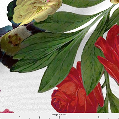 Nicolette Fabric - Wallpaper Fabric - Nicolette Day - Designed By Domesticate - Fabric Printed By Spoonflower On Satin Fabric By The Yard