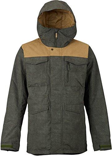 Burton Men's Covert Jacket, Forest Night Ripstop Texture/Kelp Cord, Large