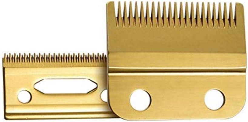 Cuchillas de repuesto para recortadoras de cabello de 2 orificios, 2161-400-8148 -Compatibles con la Clipper Wahl Magic Clipper de la serie 5 estrellas (Dorado-Actualizado)