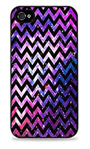 Galaxy Space Chevron Stripes iPhone 5C Black Silicone Case