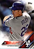 2016 Topps #351 Chase Utley Los Angeles Dodgers Baseball Card in Protective Screwdown Display Case
