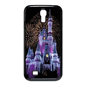 Personalized Aesthetic Samsung Galaxy S4 I9500 Hard Case Cover with Cute Night Scene Cartoon Disney Castle Printed Case Perfect as Christmas gift(4)