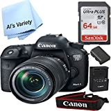 Canon 7D Mark II Digital SLR Camera with EF-S 18-135mm IS USM Lens(Black) with Free SanDisk Ultra 64GB SDHC Class 10 Card