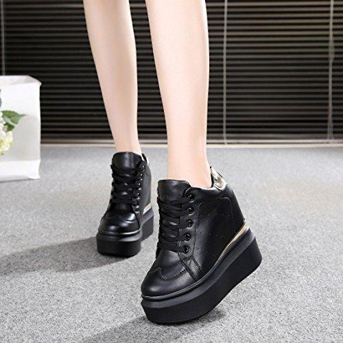 Tacon Mujer De Muffins Fondo Adentro Ocio Grueso Invisible De Alto Deportivo 12Cm HBDLH Más Primavera Zapatos black Calzados Viajes Zapatos wxvPFq1OS