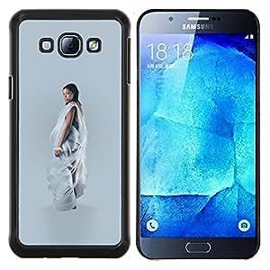 LECELL--Funda protectora / Cubierta / Piel For Samsung Galaxy A8 A8000 -- Arte Mujer Negro Moda --