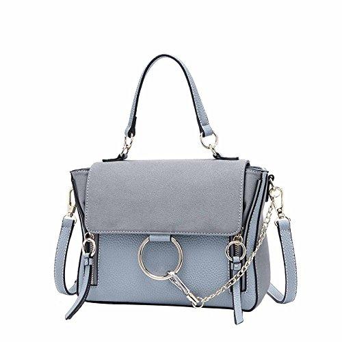 Xiaolong New Spring Fashion Leisure Wild Wings Shoulder Diagonal Package Handbags, Bluegray Bluegray