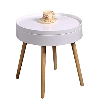 Fantastic Aoeiuv With Storage Round Sofa Side Table Nordic Living Room Ncnpc Chair Design For Home Ncnpcorg