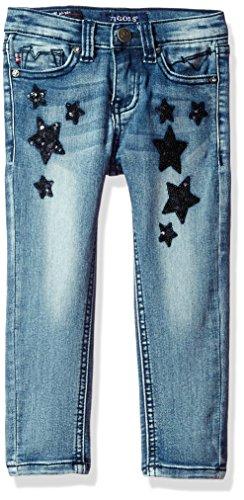 Vigoss Girls' Star Struck Skinny, Freezer Blue, 3T (Skinny Jeans For Toddler Girls)