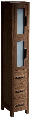 Fresca FST6260WB Torino Tall Bathroom Linen Side Cabinet in Walnut Brown