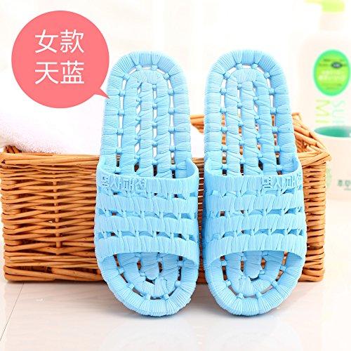 pantofole pavimento cool esposti stare pantofole plastica uomini giovane estate bagno cielo3 l'anti donne e pantofole Blu DogHaccd slittamento bagnomaria di casa a Il dxwa6nzdF