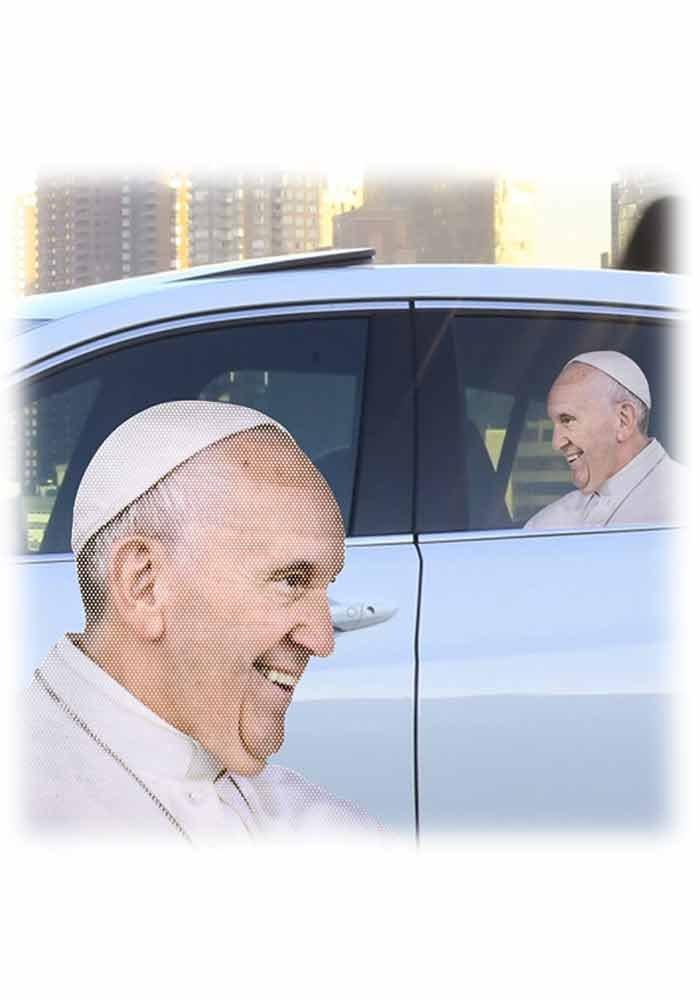Der Papst Fenstersticker f/ür dein Auto