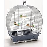 Savic Evelyne 30 Bird Cage (16x11x18 inch) (Silver)