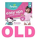Pampers Easy Ups Training Pants Pull On Disposable Diapers for Girls Size 4 (2T-3T), 164 Count, ONE MONTH SUPPLY