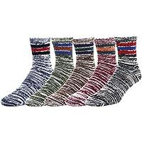 zmart 5Pack de los hombres Mixed Color clásico Quarter Cálido Lana Descenso calcetines de invierno