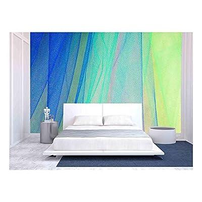 Beautiful Artisanship, Classic Artwork, Colorful Tulle on Satin Fabric Background
