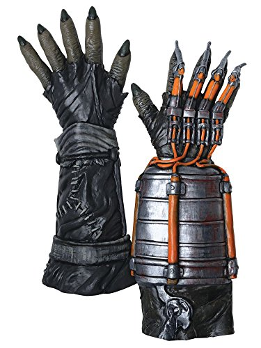 (Rubie's Men's Arkham Knight Deluxe Scarecrow Gloves, Multi, One)