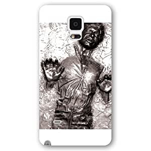 UniqueBox - Customized Personalized White Frosted Samsung Galaxy Note 4 Case, Star Wars Samsung Galaxy Note 4 case, Star Wars Han Solo, Death Star, Darth Vader, Logo Samsung Galaxy Note 4 case, Only fit Samsung Galaxy Note 4