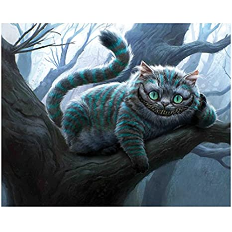 Alice In Wonderland Cheshire Cat In Tree 8 X 10 Inch Photo At