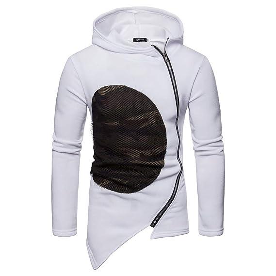 Yvelands Jersey de Camuflaje para Hombre Casual, Chaqueta de Abrigo para Hombre con Cremallera y Manga Larga en Patchwork ¡Caliente!: