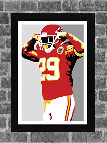 Kansas City Chiefs Eric Berry Portrait Sports Print Art 11x17 - Chief Portrait
