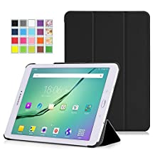 MoKo Tab S2 9.7 Case, Slim Lightweight Smart-shell Stand Cover Case with Auto Wake / Sleep for Samsung Galaxy Tab S2 9.7/S2 Plus 9.7 LTE Android 6.0/7.0 2017 Version, BLACK