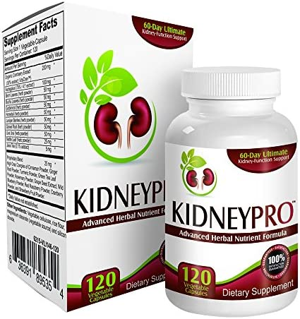 Kidney-Pro with 21 Kidney Health Supplements in 1 Formula Total Kidney Support ,120 capsules.