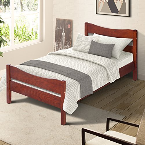 twin size wooden bed frame - 2